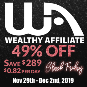 Black Friday deal at Wealthy Affiliate